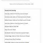 December 2014 Partnership Board Meeting Notes - pic